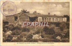 Old Postcard St Vincent on Jard Vendee