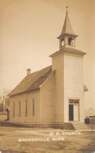 Browerville Minnesota~United Brethren Church~Woodpile~Building Truss~c1912 RPPC