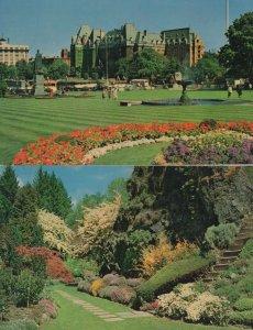 Victoria British Columbia Canada CPR Empress Hotel 2x Postcard