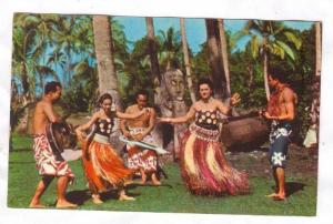 Island Dancers, Young men and women hula dancing, Colony of Fiji, 40-60s