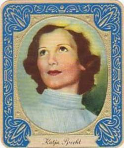 Aurelia German Vintage Cigarette Card Film Stars 1936 No 99 Katja Specht