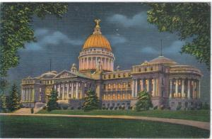 Mississippi - Jackson - Capitol  Building @ Night - C- 1940