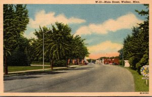 Minnesota Walker Main Street 1955 Curteich