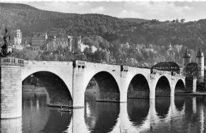 Germany Heidelberg Alte Bridge Castle River Postcard