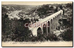 Old Postcard Dinan General View of the Viaduct