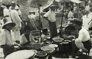 malay malaysia, KUALA LUMPUR, Market Scene (1910s) RPPC Postcard (1)