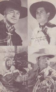 4 Cowboys: Wm Boyd, Jack Randall, Rod Comeron, Gene Autry, 30s