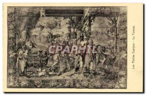Old Postcard The deadly sins Laziness Collection National Palace Madrid