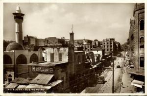 lebanon, BEIRUT BEYROUTH, Rue Weygand (1935) RPPC Stamp