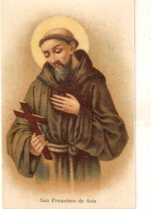San francisco de Asis Nice vintage Spanish religious postcard