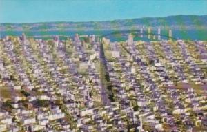 California San Francisco Panorama From Twin Peaks