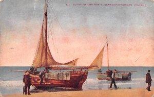 Dutch Fishing Boats Scheveningen Holland 1909 Missing Stamp