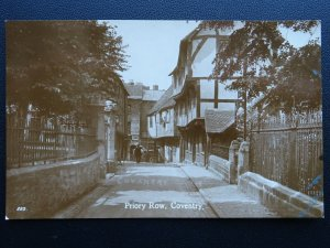 Warwickshire COVENTRY Priory Row c1909 RP Postcard by Teesee