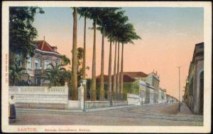 brazil, SANTOS, Avenida Conselheiro Nebias (1910s)