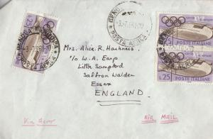 Grand Hotel Stockholm Olympics Games to Saffron Walden 1961 Cover