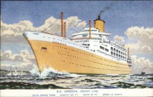 Steamship SS Orsova Orient Line Old Salmon Series Postcard
