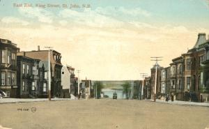 East End of King Street - St John NB, New Brunswick, Canada - pm 1913 - DB