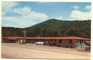Asheville NC Ocean Pier Motel located US 70 - 74 Old Cars Postcard