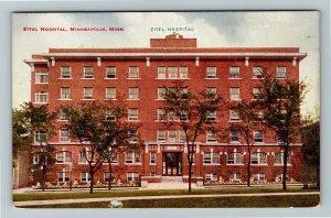 Minneapolis MN-Minnesota, Eitel Hospital, Vintage Postcard