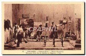 Old Postcard Lourdes Chateau Fort Musee Pyreneen Diorama d & # 39un bowling i...
