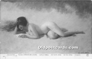 Nude Postcard On The Sand Unused