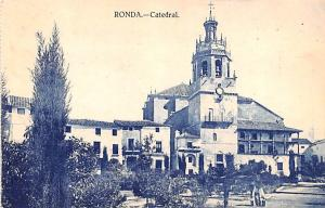 Spain Old Vintage Antique Post Card Catedral Ronda Unused