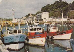 Fishing Boats Docked in Harbor, Le Port, Binic, Cotes d´Amor, France 1989