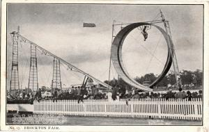 Bicycle Daredevil Diavolo Looping Loop Brockton Fair Glasier 1905 Postcard O12