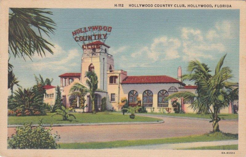 Florida Hollywood The Hollywood Country Club 1938 Curteich sk398