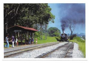 Strasburg PA Groffs Grove Picnic Stop Train RR Postcard