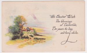 Lyndell PA to Malvern Pennsylvania Easter Bergman Postcard Early 1900s A37