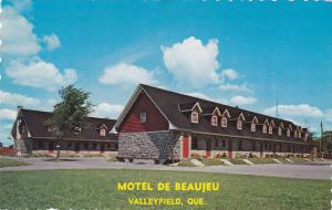 Exterior View, Motel de Beaujeu, Valleyfield, Quebec, Canada, 40-60´s