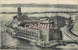 Old Postcard Marseille Port Saint John
