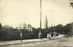 denmark, AALBORG ÅLBORG, Saxogade (1910s) Postcard