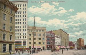 WINNIPEG , Manitoba , 1911 ; Main Street Corner Portage Avenue