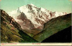 Vtg Postcard Switzerland Die Jungrfrau-  Photoglob Co. Zurich