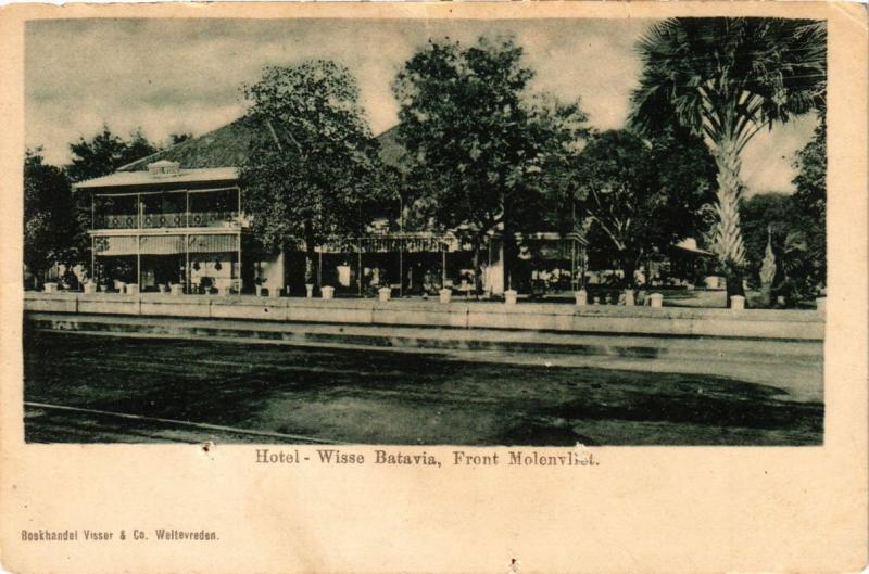 INDONESIA PC DUTCH INDIES - Hotel-Wisse Batavia Front Molenvliet (a1669)