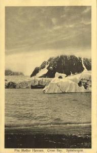 norway, SPITSBERGEN SVALBARD, Cross Bay, Fra Møller Havnen, Steamer (1920s)