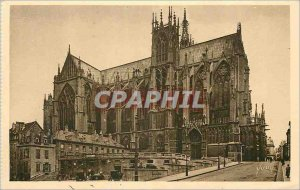 Old Postcard Metz (Moselle) The Apse of the Cathedral