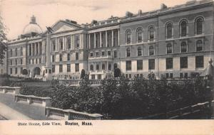 State House, Side View, Boston, Massachusetts, Early Postcard, Unused