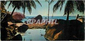 Modern Postcard Seychelles Islands Nature as God Made