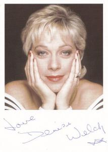 Denise Welch Coronation Street Hand Signed Cast Card Photo