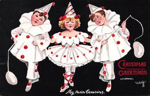 Christmas Greetings, Early Tuck's Postcard, Artist Signed, Used in 1907