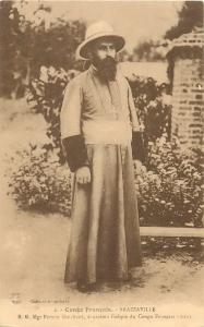FRENCH CONGO BRAZZAVILLE S. G. Mgr Firmin Guichard missionary 1922