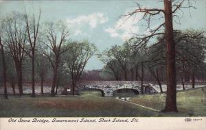 Illinois Rock Island Old Stone Bridge Government Island