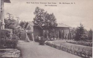 New York Mount Mcgregor New York State Veterans Rest Camp The Auditorium Albe...