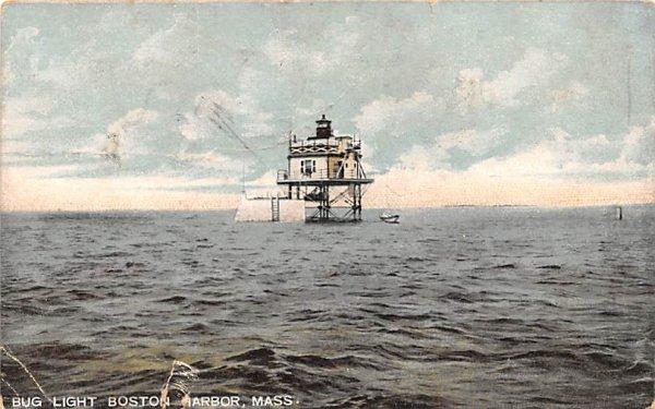 Bug Light Boston Harbor Massachusetts Postcard