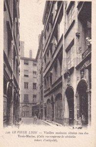 LYON, Rhone, France, 1900-1910's; Vieilles Maisons Situees Rue Des Trois-Maries