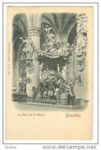 La Chaire de St Gudule, BRUXELLES, Belgium, Pre 1905