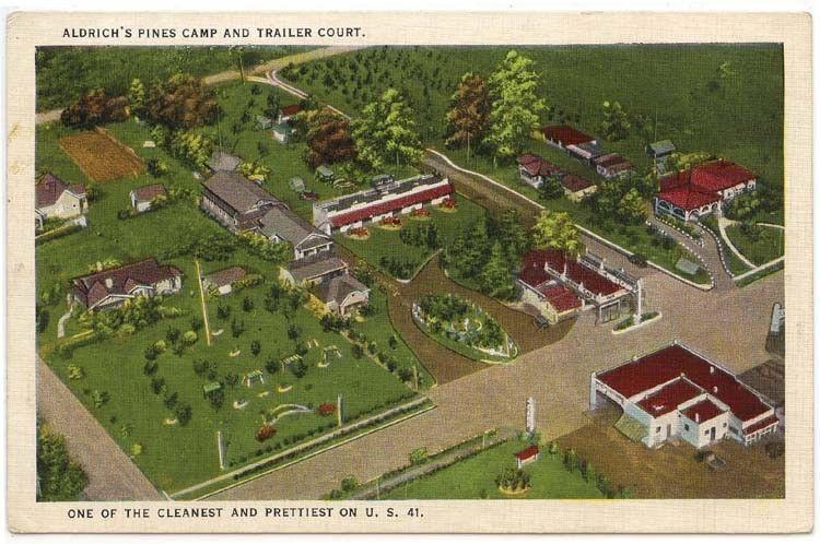 Valdosta Georgia Birdseye View Of Aldrichs Pines Camp And Trailer Court